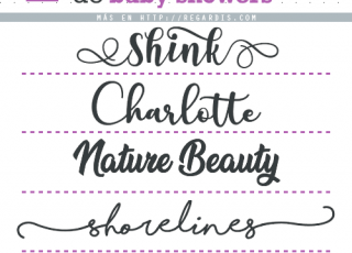 5 Fonts para Invitaciones de Baby Showers