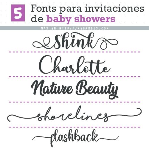 5 Fonts para Invitaciones de Baby Showers