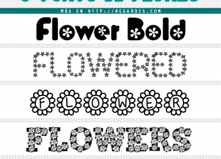 5 Fonts de Flores Gratis