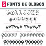 5 Fonts de Globos Gratis
