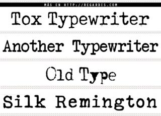 5 Fonts de máquina de escribir
