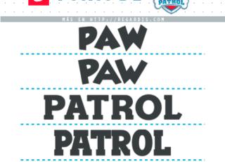 5 Fonts de Paw Patrol Similares para Descargar