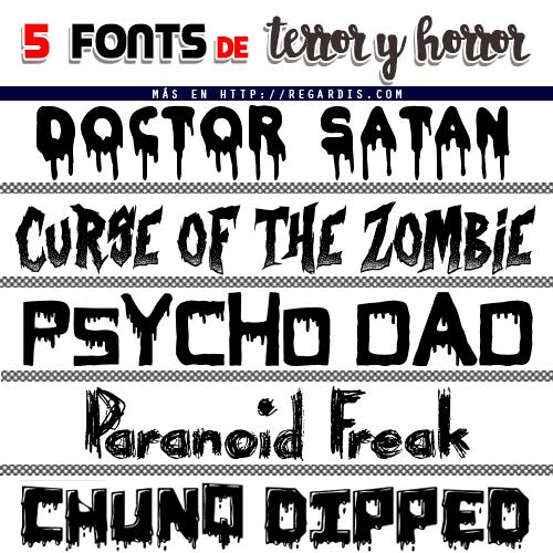 5 Fonts de Terror y Horror Gratis