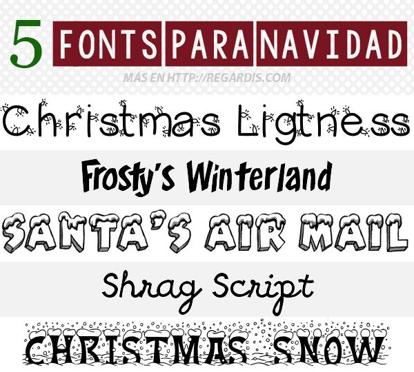 5 Fonts para Navidad Gratis