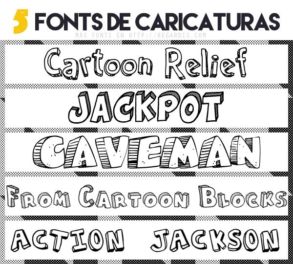 5 Fonts de Caricaturas Gratis