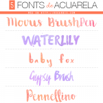 5 Fonts de Acuarela (Watercolor fonts)