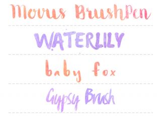 5 Fonts de Acuarela (Watercolor fonts)