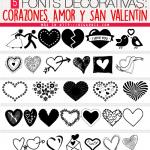 5 Fonts Decorativas de Corazones, Amor y San Valentín