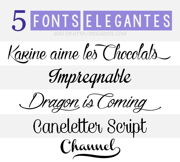 5 Fonts Elegantes Gratis