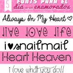5 Fonts para el Día de los Enamorados