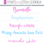 5  Fonts de Letra Corrida Gratis
