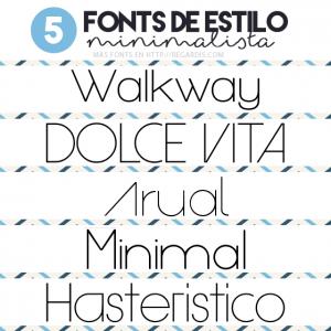 5 letras para descargar de estilo minimalista