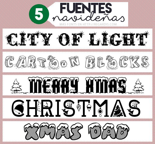 5 Fuentes Navideñas Gratis