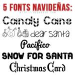 5 Fonts Navideñas