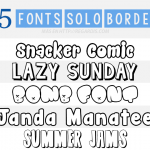 5 Fonts de solo borde