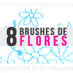 8 Brushes de Flores Gratis
