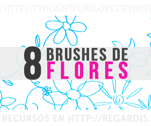 8 Brushes de Flores Gratis para Photoshop
