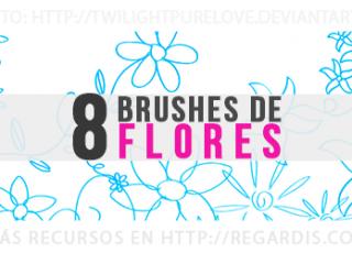 8 Brushes de Flores Gratis para Photoshop