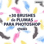 +30 Brushes de Plumas para Photoshop Gratis