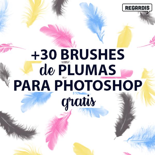 +30 Brushes de Plumas para Photoshop Gratis