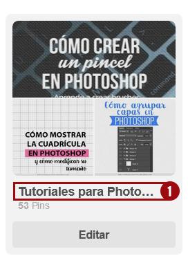 Cómo abrir tu tablero en Pinterest