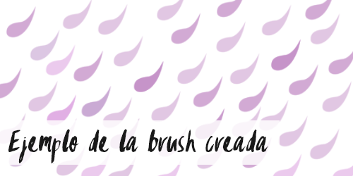 Ejemplo de brush creado con tutorial para Photoshop