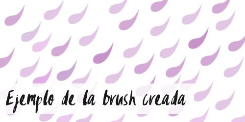 Ejemplo de brush creado con tutorial para Photoshop