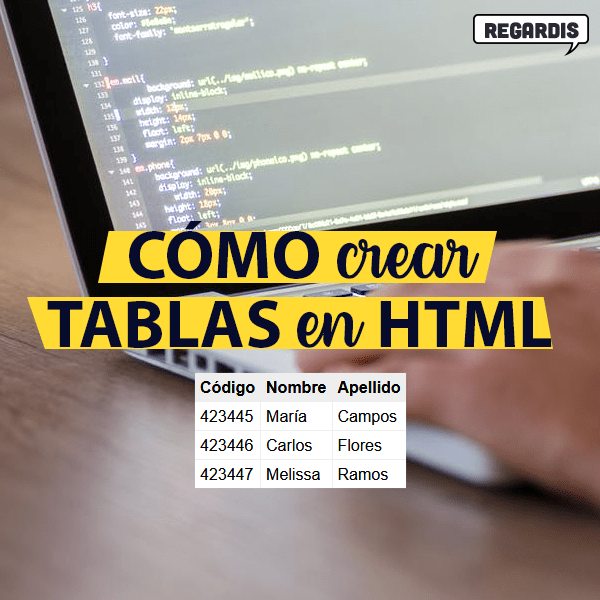 Cómo crear tabla HTML
