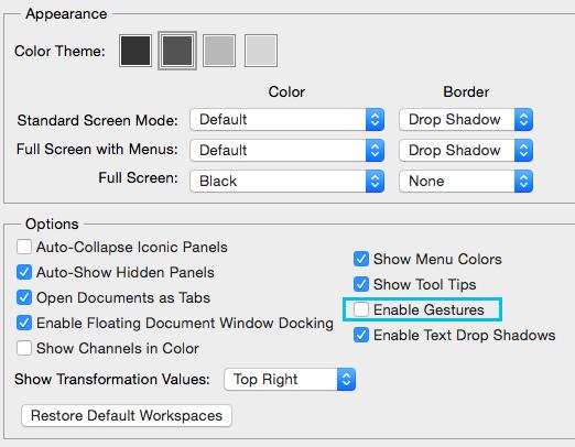 Desactivar gestos del trackpad (Mac)