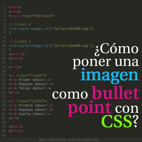 ¿Cómo poner una imagen como bullet point con CSS?