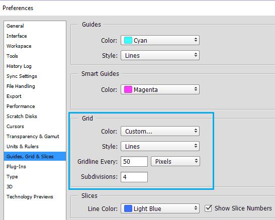 Cómo cambiar el tamaño de la cuadrícula en Photoshop