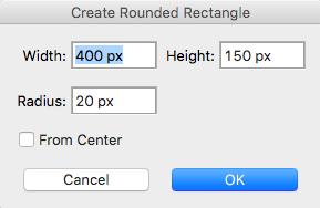 Hacer rectángulo con esquinas redondeadas en Photoshop