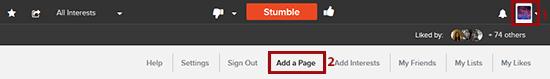 ¿Cómo agregar una página a StumbleUpon?