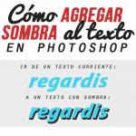 Cómo agregar sombra al texto en Photoshop