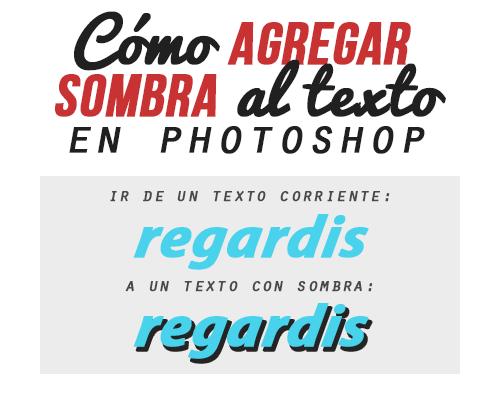 Cómo agregar sombra a texto en Photoshop