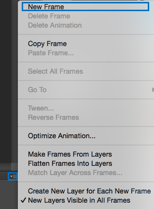 Crear nuevo Frame en Timeline