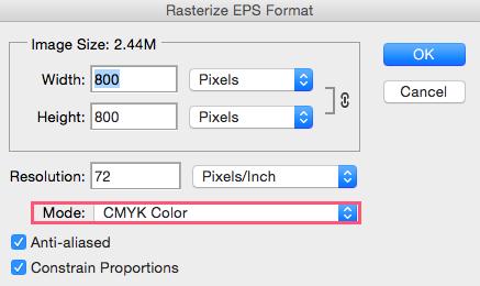 Cómo abrir archivo .EPS en Photoshop