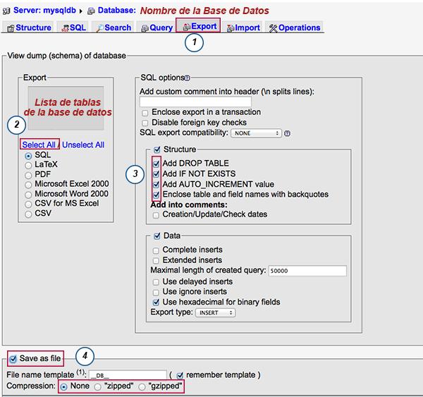 Hacer backup manual de tu base de datos con MySQL