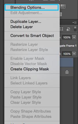 Blending Options (Opciones de Fusión) en Photoshop