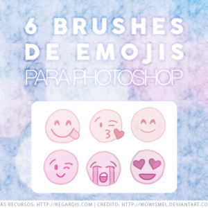 6 Brushes de Emojis para Photoshop