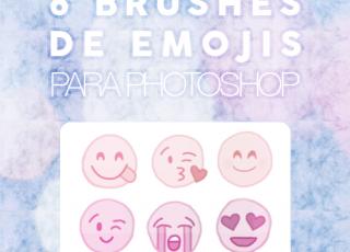 6 Brushes de Emojis para Photoshop