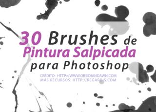 30 Brushes de Pintura Salpicada para Photoshop