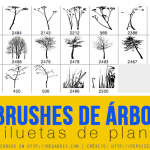 19 Brushes de Árboles + Plantas