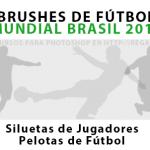 Brushes de Fútbol Mundial Brasil 2014