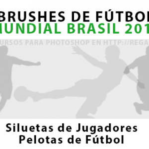 Brushes de Fútbol Mundial Brasil 2014 para Photoshop