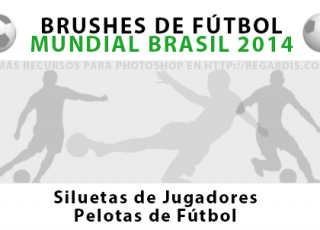 Brushes de Fútbol Mundial Brasil 2014 para Photoshop