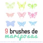 9 Brushes de Mariposas Gratis