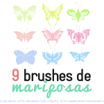9 Brushes de Mariposas Gratis