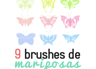 9 Brushes de Mariposas Gratis para Photoshop