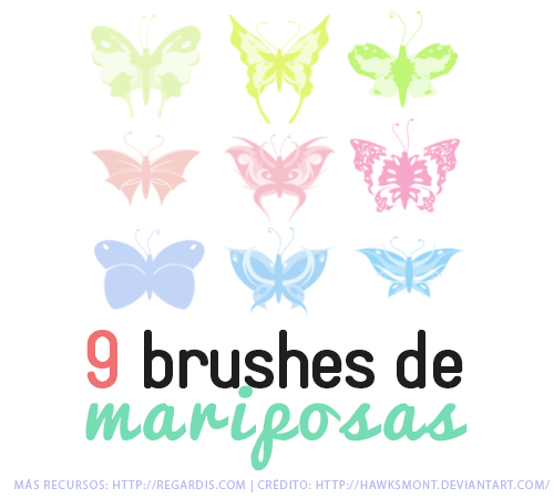 9 Brushes de Mariposas Gratis para Photoshop